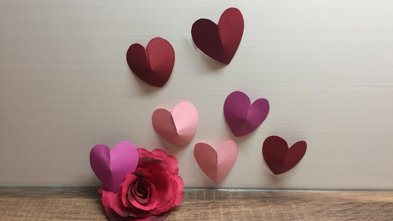 Diy Herz In 3d Optik Basteln Fur Valentinstag Liebe Schnell Und