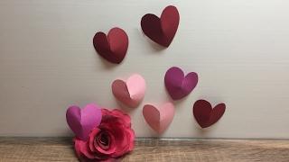 DIY Herz in 3D Optik basteln, für Valentinstag, Liebe, schnell und einfach herstellen