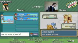 Pokemon Leaf Green / Fire Red Any% RACE by Tiberius and Werster