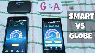 Let's compare the LTE mobile internet speed of Smart and Globe. Let...