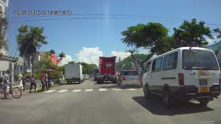 GUYANA,Georgetown ,Avenue of the Republic,Main Street traffic (HD)