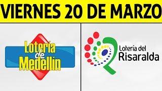 Resultados Lotería de MEDELLIN y RISARALDA Viernes 20 de Marzo de 2020 | PREMIO MAYOR 😱🚨💰