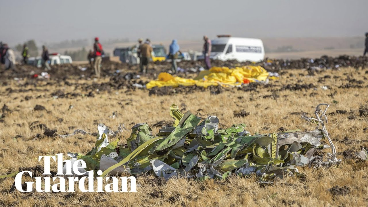 Ethiopia plane crash: search operation continues at crash site – video