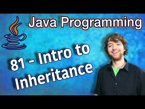 Java Programming Tutorial 81 - Intro to Inheritance thumbnail