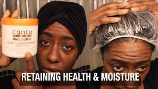 Natural Hair| The Baggy Method to Retain Health & Moisture| BEAUTYCUTRIGHT