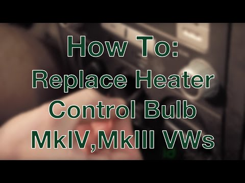How to Replace Your Heater Control Bulb (MkIV & MkIII VWs)