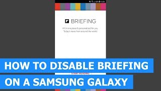 how To Turn Off Briefing On Samsung Galaxy S6
