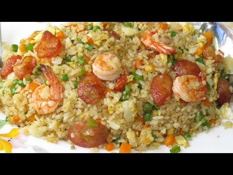 how to cook chicken fried rice video