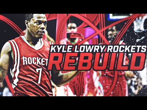 CRAZIEST PLAYOFF SERIES EVER!! KYLE LOWRY ROCKETS REBUILD! NBA 2K17