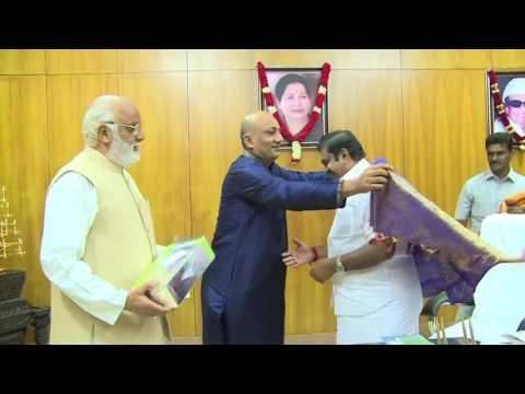 Arcot Nawab met CM at Secretariat
