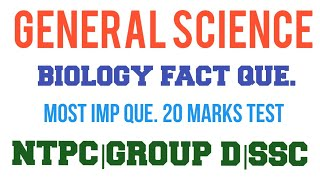 General Science biology study basic que. For railway ntpc group d ssc cgl chsl drdo mts all gov exam