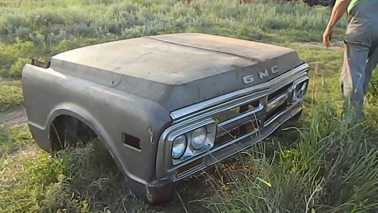 1969 Chevy Truck For Sale >> 1971 ? GMC TRUCK FRONT FENDERS HOOD GRILLE CLIP FOR SALE TRADE BARTER OKLAHOMA - YouTube
