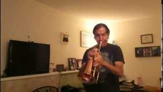 "Kanstul Copper-Bell Flugelhorn Playing ""This Masquerade"" (Ron Robbins)"