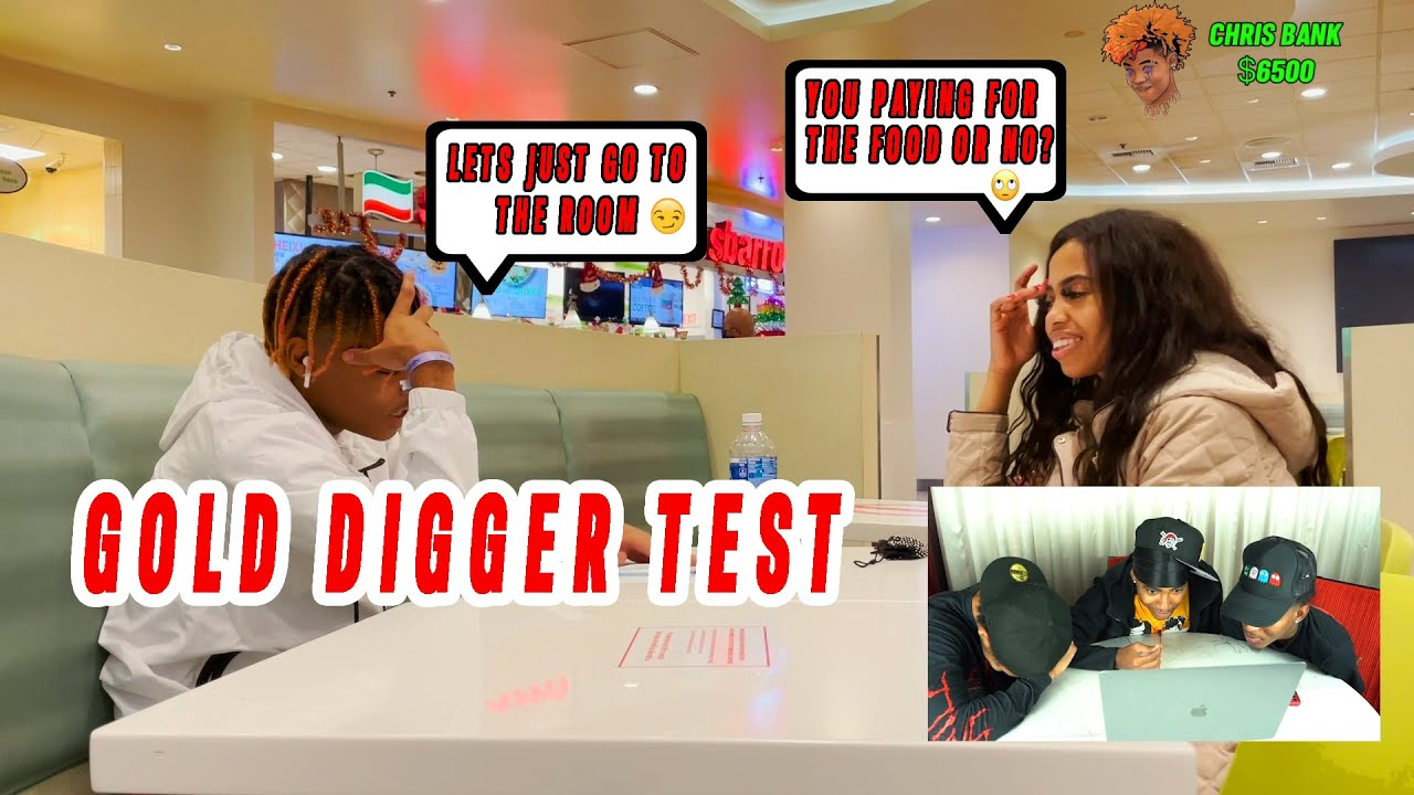 GOLD DIGGER TEST ON CHRIS'S FIRST DATE👀🤣(SHE GOT ANGRY😬)