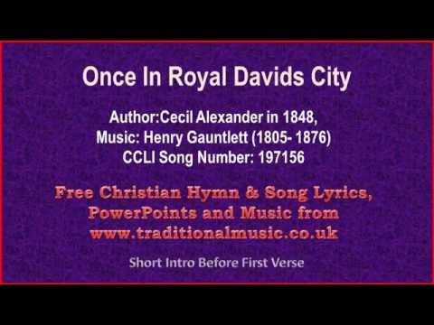 Once In Royal Davids City - Christmas Carols Lyrics & Music(v2)