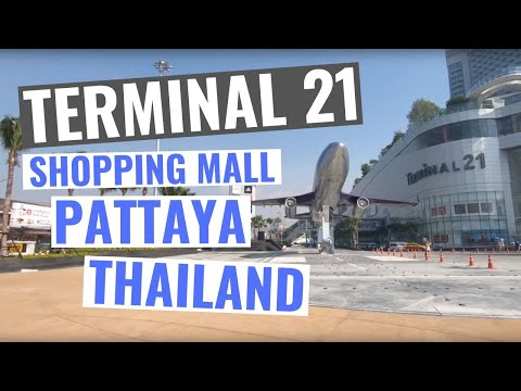Terminal 21 Pattaya 2018 / 2019 a tour inside and outside the shopping mall