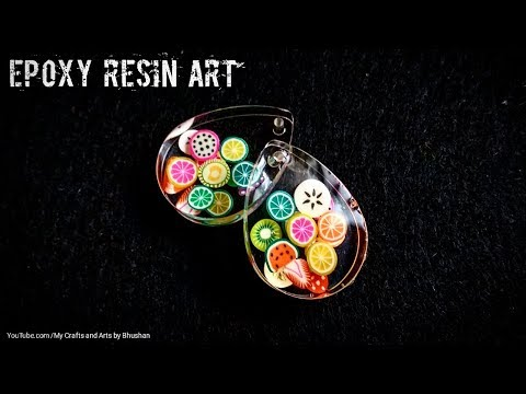 Small clay fruits in epoxy resin || DIY resin art