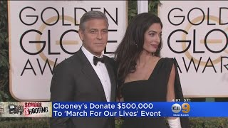 Hollywood Heavyweights Follow George Clooney's Pledge, Offer Big Donations To 'March For Our Lives'