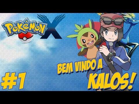 Pokémon X - Nova Jornada #1 / Bem Vindo a Kalos / Ao Lado dos Amigos / A Caminho de Santalune City!!