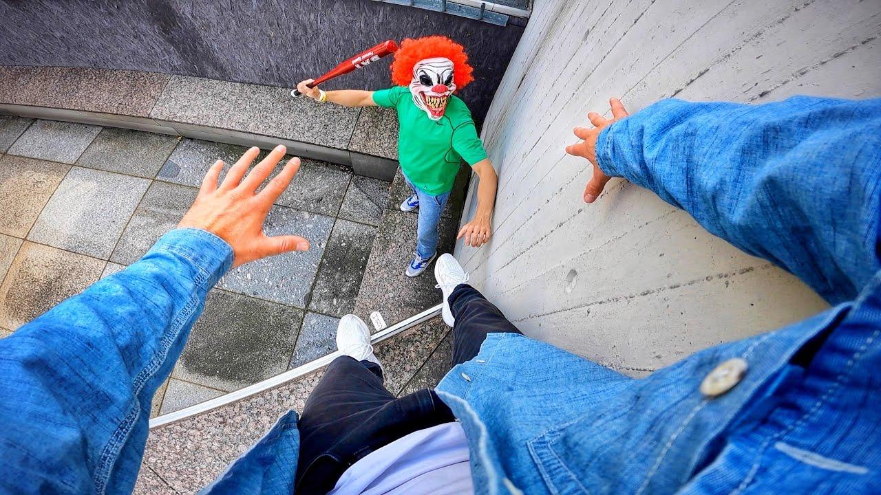 Download Horror Clowns VS Parkour POV   Halloween Chase V