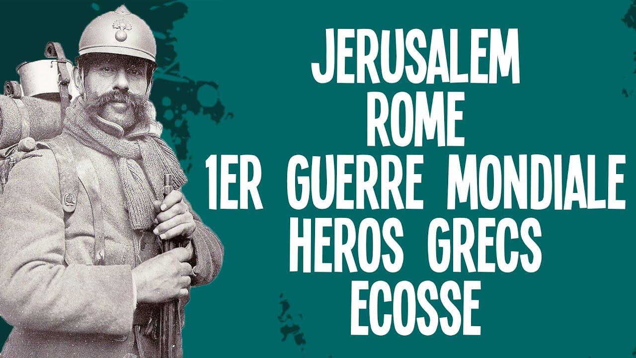 Jérusalem, Rome, 1ère guerre mondiale, héros et Ecosse – Questions Histoire #1