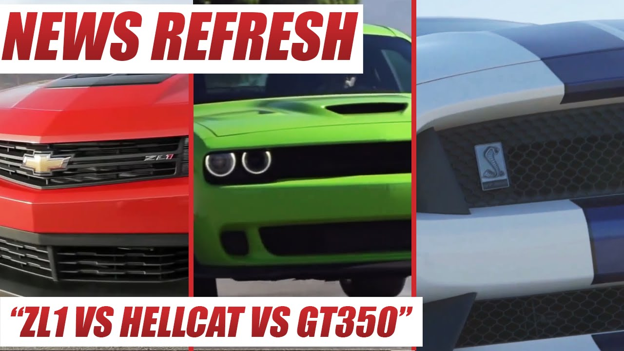 Ford Shelby Gt350 Mustang Vs Dodge Challenger Srt Hellcat