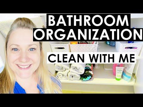 Declutter Minimize Bathroom Clean With Me Bathroom Tour Bathroom Organization