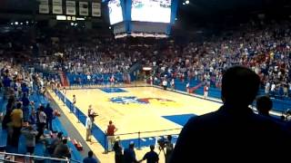 Insanity at Allen Fieldhouse KU vs OSU