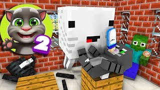 Monster School : BABYSITTING TALKING TOM 2 - Minecraft Animation