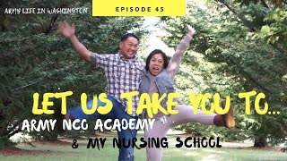 LET US TAKE YOU TO: NCO ACADEMY & NURSING SCHOOL [Doug&Marie'sLife S4E45] Army wife vlog