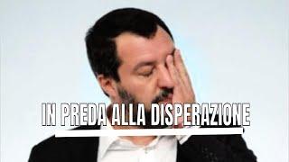 Matteo Salvini e' sull'orlo di una crisi di nervi: Il capitano e la bestia non riposano