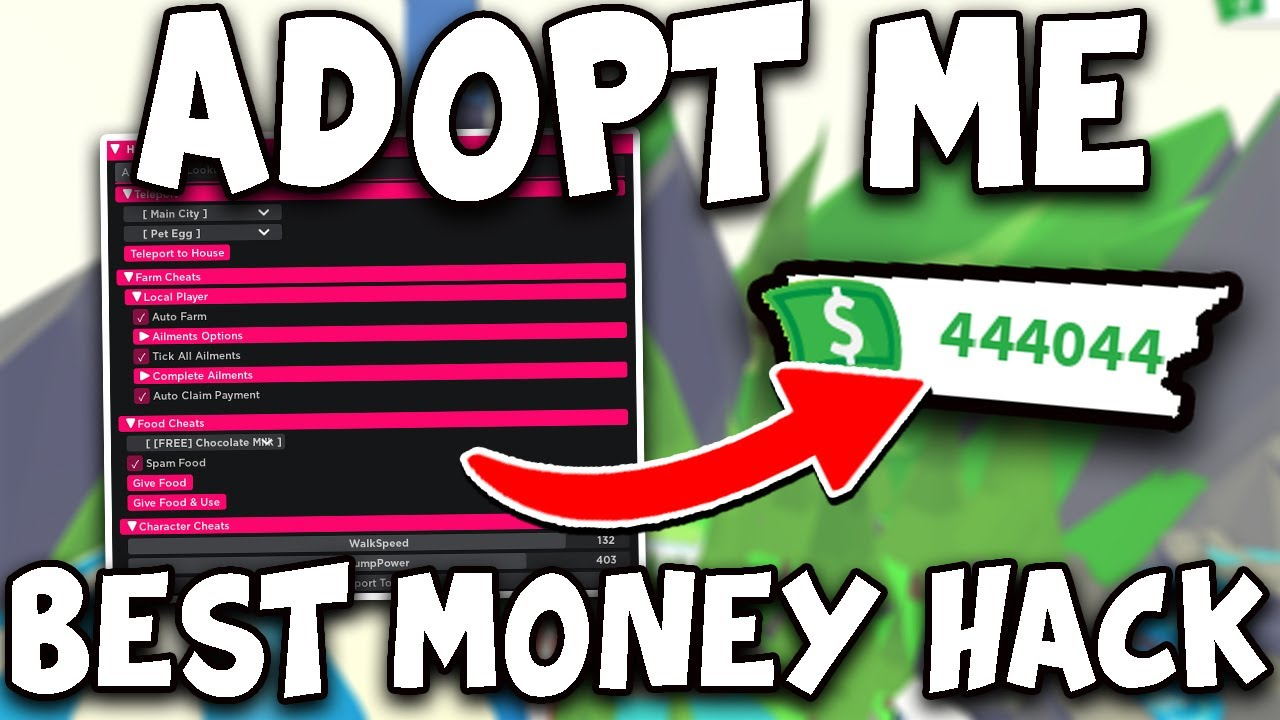 Adopt Me Money Hack Best Money Script For Adopt Me Autofarm Youtube