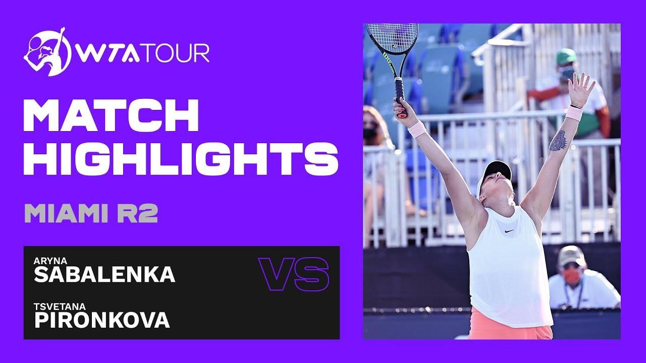 Tsvetana Pironkova vs. Aryna Sabalenka | 2021 Miami Open Round 2 | WTA Match Highlights