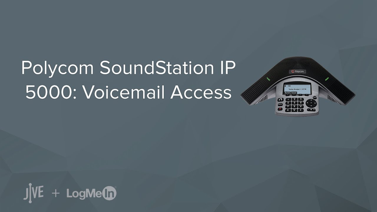 Polycom SoundStation IP 5000: Voicemail Access