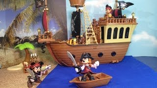 Disneyland Disney Pirates Of The Caribbean Mickey Mouse Pirate Ship Playset