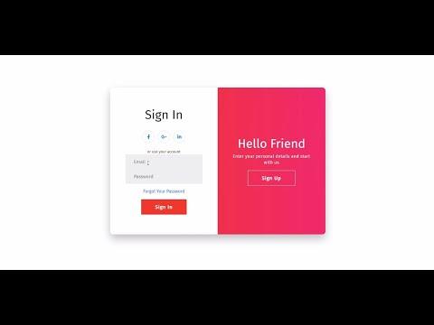 React.js - Beautiful Auth UI   Sign Up & Sign In Web Design Tutorial