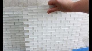 Укладка стеклянной плитки и стеклянной мозаики в ванной или на кухне(Укладка стеклянной плитки как и стеклянной мозаики выполняется на белый монтажный влагостойкий клей с..., 2014-10-11T18:03:27.000Z)