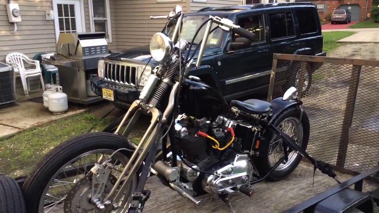 74 Harley Ironhead sportster xlch rigid springer chopper