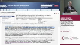 Investigación en marcapasos, DAI y resincronización. Dr. Juan Leal