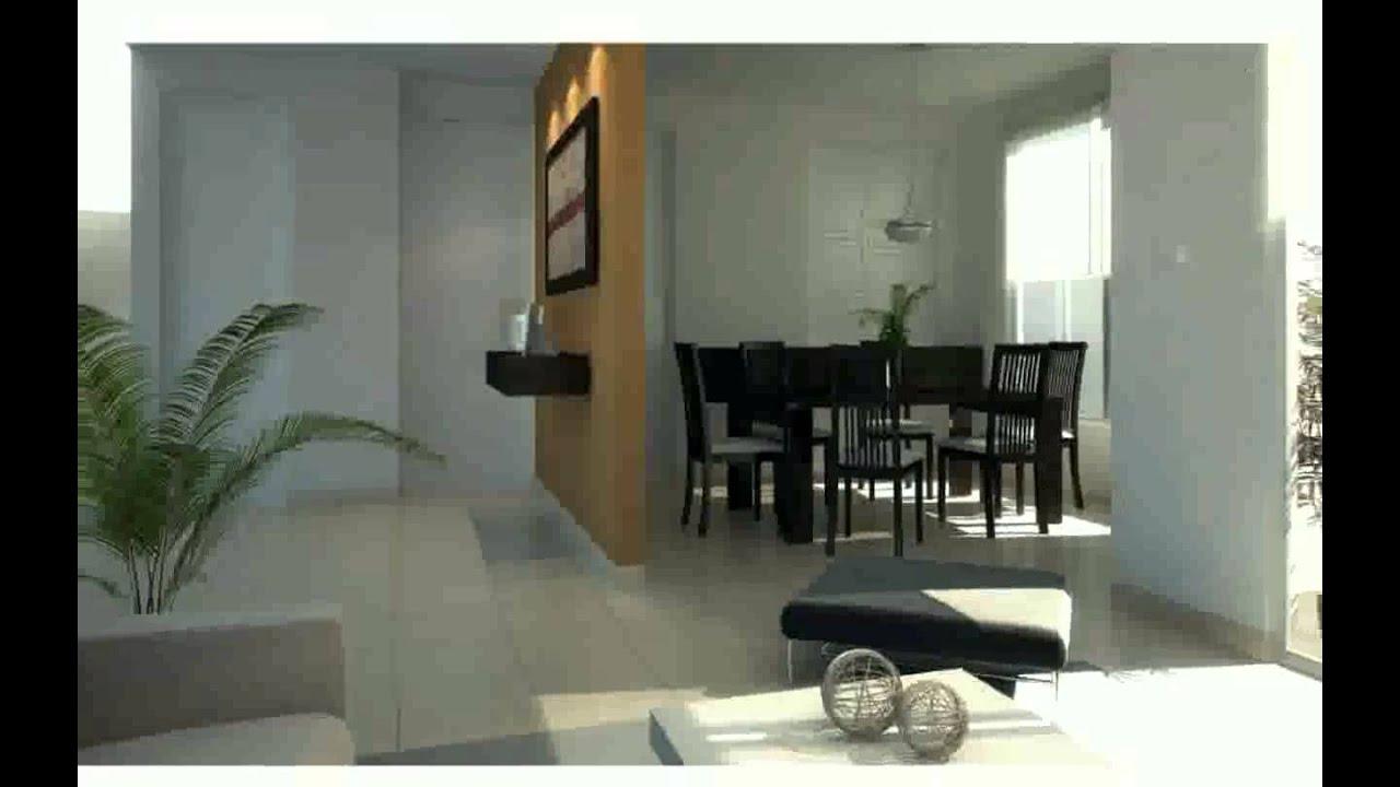 Sala con comedor youtube for Dividir cocina comedor
