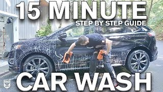 15 Minute Car Wash: Water vs No Water