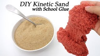 DIY Kinetic Sand !You need: School Glue, Sand, Water Color, Ariel at Home