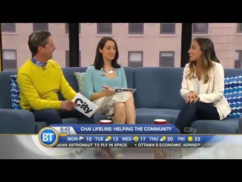 Chai Lifeline Volunteer Amanda Singerman on Breakfast Television