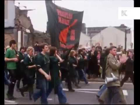 Late 1970s, Early 1980s UK Unemployment March, Protest