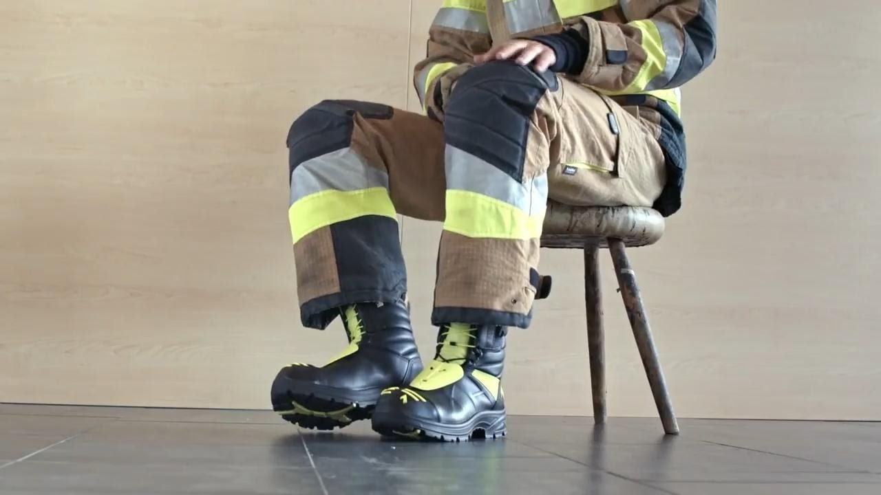 Pvc Biker Cums On Fireman's Boot