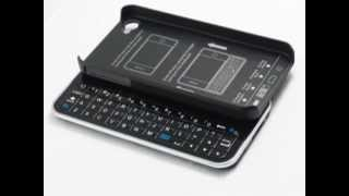 ultra thin wireless sliding out bluetooth keyboard hardshell case for apple iphone 4s 4g black 35566