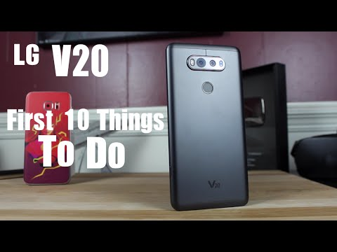 LG V20 : First 10 Things To Do! Tips and Tricks