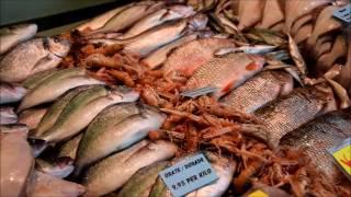 Базары мира! Рыбный базар в Голландии!Живая рыба!