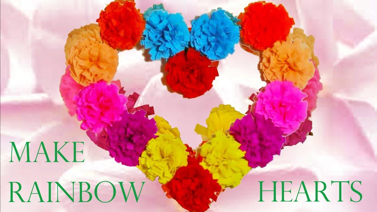 Haz lindas decoraciones corazones de flores make for Decoracion con papel