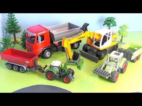Traktor, Bagger, Lastwagen, Trucks - Fahrzeuge für Kinder - Vehicles for Kids